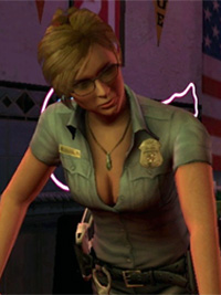 Cybil (Silent Hill: Shattered Memories), showing cleavage